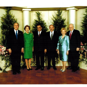 dr k with george w bush first lady laura bush dick cheney and his wife lynne cheney