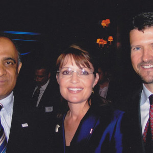 dr kazmir with us vice presidential candidate and former governor sarah palin and her husband todd palin