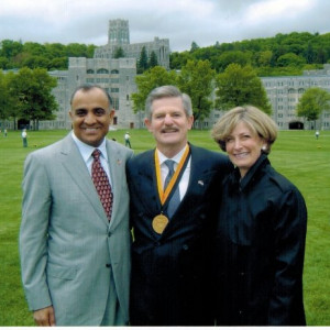 secretary of veteran affairs and his wife with dr kazmir at west point