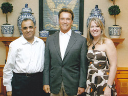 california governor arnold schwarzenegger and dr kazmir