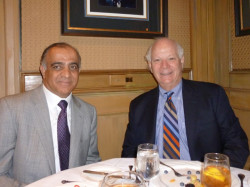 dr kazmir and us senator ben cardin at private lunch