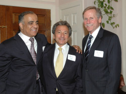 dr kazmir commissioner of nj lottery robert slater and ceo of christ hospital peter kelly