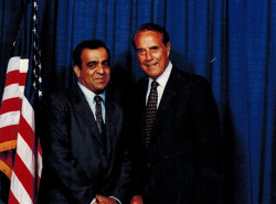 dr kazmir with bob dole