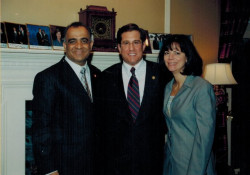 dr kazmir with congressmen steve rothman nj hospital leader