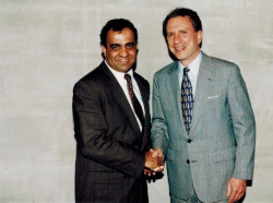 dr kazmir with former us senator of pennsylvania alan specter