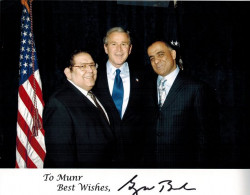 dr kazmir with president george w bush