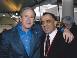 former president george w bush and dr kazmir