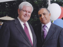 former speaker of the us house of representatives newt gangrich and dr kazmir