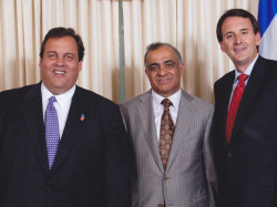 nj governor chris christie dr kazmir and governor tim pawlenty of minnesota