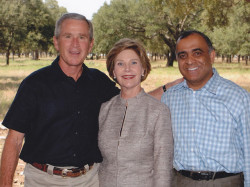 president george w bush laura bush and dr kazmir