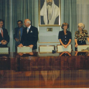 1997 kazmir at jordan king s palace with republican finance chairman nicholas sember