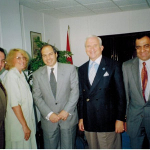 dr kazmir with jordanian officials