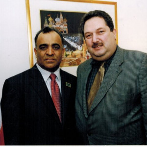 dr kazmir with syrian leader