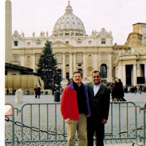 dr kazmir with us ambassador to the vatican jim nickalson at the vatican