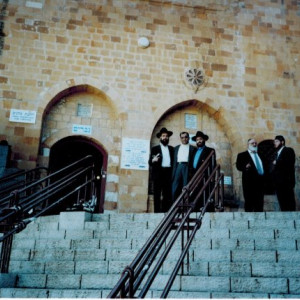 dr k with his rabbi in israel