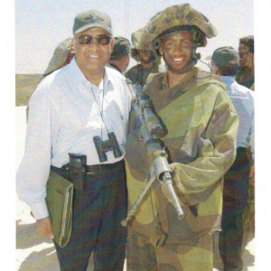 dr k with israeli soldier