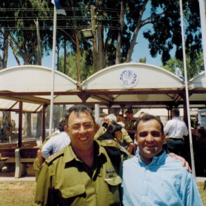 kazmir with israeli military chief commander