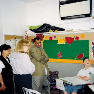 visiting handicapped children