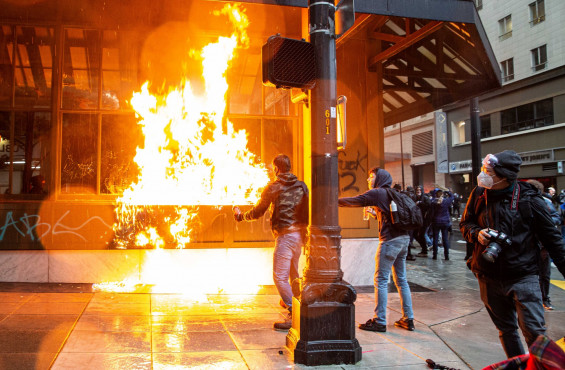 As the Peaceful Protest Narrative Crumbles