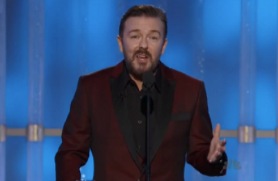 Comedian Ricky Gervais Roasts Hollywood Elites