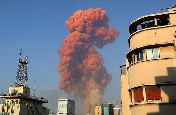 Huge Explosion Rocks Beirut
